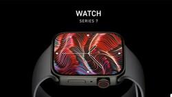 Apple Watch Series 7'nin tasarımını gösteren görseller