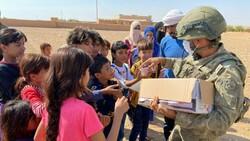 Mehmetçik'ten Suriye halkına yardım