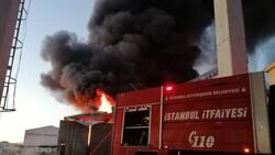 Silivri'de fabrikada yangın çıktı