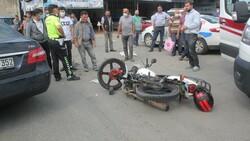 Ordu'da motosiklet ile otomobil çarpıştı: 2 yaralı