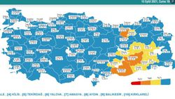 10 Eylül Türkiye'nin korona tablosu