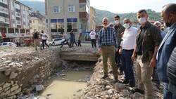 Sel bölgelerine toplam 720 milyon lira nakdi yardım yapıldı