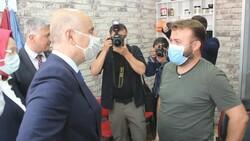 Adil Karaismailoğlu'nun Tekirdağ'da berber ile güldüren diyaloğu