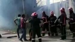Sakarya'da yangına müdahale eden itfaiyecilere saldırı