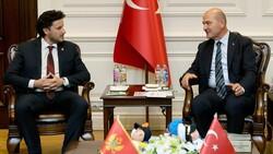 Süleyman Soylu, Karadağ Başbakan Yardımcısı Abazoviç ile görüştü