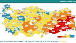 25 Eylül Türkiye'nin korona tablosu