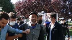 Ankara'da aşı karşıtlarının mitinginde arbede çıktı
