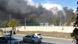 Tuzla'da fabrikada yangın meydana geldi