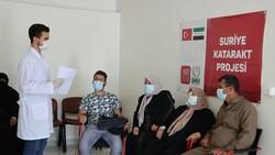 İdlib'de açılan Göz Sağlığı Merkezi'nde tedaviler sürüyor