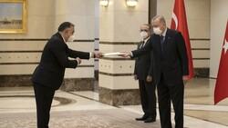 Azerbaycan'ın Ankara Büyükelçisi Mammadov, Erdoğan'a güven mektubu sundu