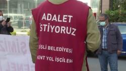 Şişli'de belediyeden çıkarılan işçiler, CHP'nin önünde açlık grevine girdi