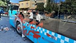 Ümraniye'de otobüse alınmayan kadın terör estirdi
