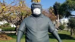 Turgut Özal'ın heykeline maske takılmasına Anavatan Partisi'nden tepki