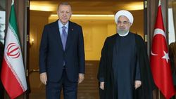 Cumhurbaşkanı Erdoğan, Ruhani'yle görüştü