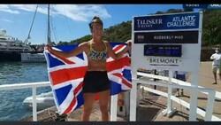 İngiliz Jasmine Harrison, Atlantik Okyanusu'nu kürekle geçti