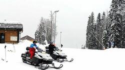 Putin ile Lukaşenko'dan kar motosikletli diplomasi