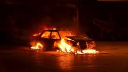 Samsun'da arıza yapan aracına sinirlenip ateşe verdi