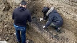 Düzce'de bin 500 yıllık Bizans mezarı bulundu