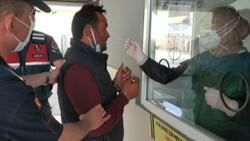 Samsun'da tutuklanan zanlı, koronavirüs testine götürülürken tehdit etti