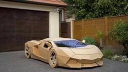 Yeni Zelanda'da kartondan yaptığı aracı 10 bin 420 dolara sattı