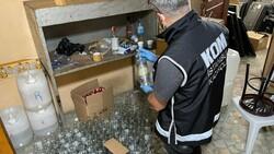 Başakşehir'de 2 ton kaçak içki ele geçirildi