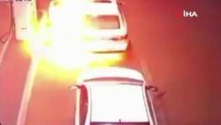 Suudi Arabistan'da akaryakıt istasyonda araç alev aldı