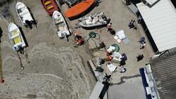 Caddebostan sahilinde müsilaj temizliği