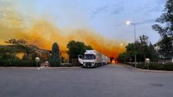 Antalya'da fabrikadan sızan nitrik asit gökyüzünü turuncuya boyadı