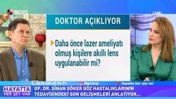 Doktor Sinan Göker, göz rahatsızlıklarının tedavisi hakkında konuştu
