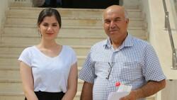 Şırnak'ta babasıyla sınava girdi