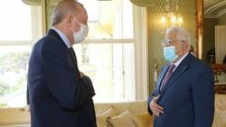 Cumhurbaşkanı Erdoğan - Filistin Devlet Başkanı Abbas görüşmesi