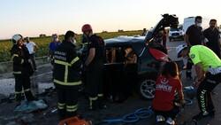 Aksaray'da gurbetçinin aracı konvoydaki araçlarla çarpıştı: 2 ölü 6 yaralı