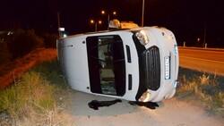 Aksaray'da tarım işçilerini taşıyan minibüs şarampole devrildi