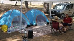 Doğayla iç içe tatil yapmak isteyenler kamp alanlarını doldurdu