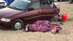 Antalya'da otellerde yer bulamayanlar araç ve yerde uyudu