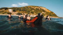 Bekir Pakdemirli, Marmara Denizi'ne dalış yaparak hayalet ağ çıkardı