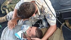 Milas'taki yangında mahsur kalan kişi helikopterle kurtarıldı