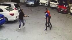 Beyoğlu'nda silahlı kavga kamerada