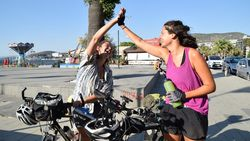 Avusturya'dan bisikletle yola çıkan 3 kadın, bir ayda Türkiye'ye ulaştı