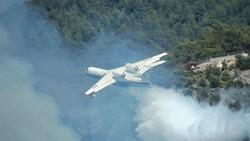 Azerbaycan yangın söndürme uçağından, Dalaman yangınına müdahale