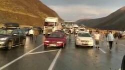 Erzincan-Sivas karayolunda heyelan