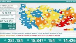 15 Ağustos Türkiye'de koronavirüs tablosu