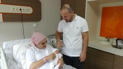 Trabzon'da 20 yıl sonra ilk bebek sevincini yaşadılar