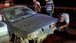 Şanlıurfa'da otomobil şarampole uçtu
