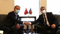 Hulusi Akar mevkidaşı Zakir Hasanov ile görüştü