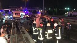 Kocaeli'de servis minibüsü devrildi: 7 yaralı