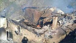 Gümüşhane'de çıkan yangında 2 ev küle döndü