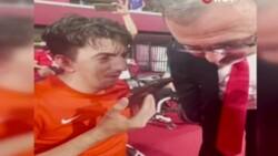 Cumhurbaşkanı Erdoğan'dan milli sporcu Abdullah Öztürk'e tebrik telefonu