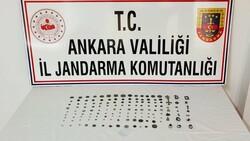 Ankara'da kaçakçılık operasyonu: 125 sikke ele geçirildi