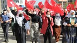 Oğlu terör örgütünden kaçan anne, Türk bayraklarıyla halay çekti